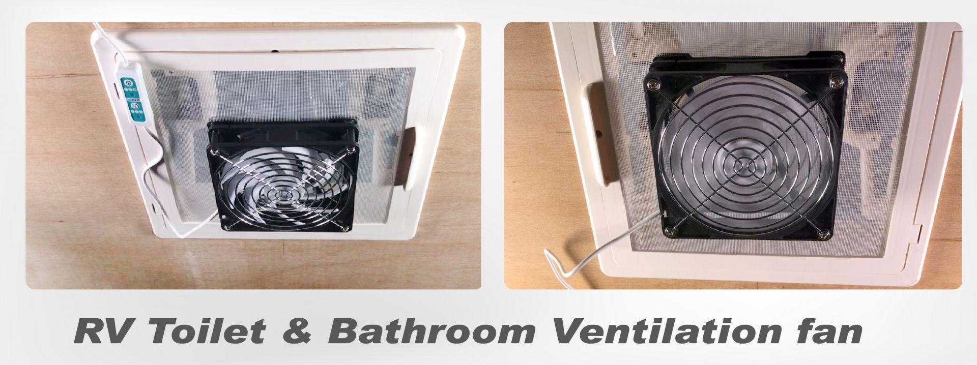 Zwei Metallrahmen zur Befestigung an der Fensterscheibe und am Fensterfilter auf dem Dach der Toilette