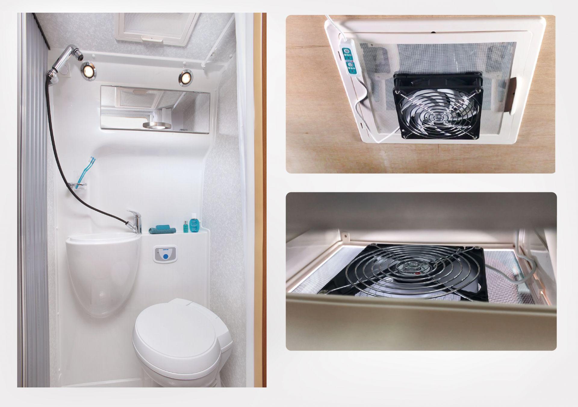RVトイレとバスルームの屋上窓に最適です。