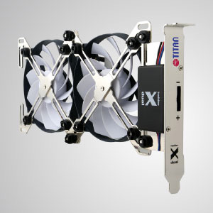 """With unique X-shaped dual cooling fans holder design, this VGA cooler features """"free style"""". It can be freely equipped with 4 types of fan (60, 70, 80, 90mm)"""
