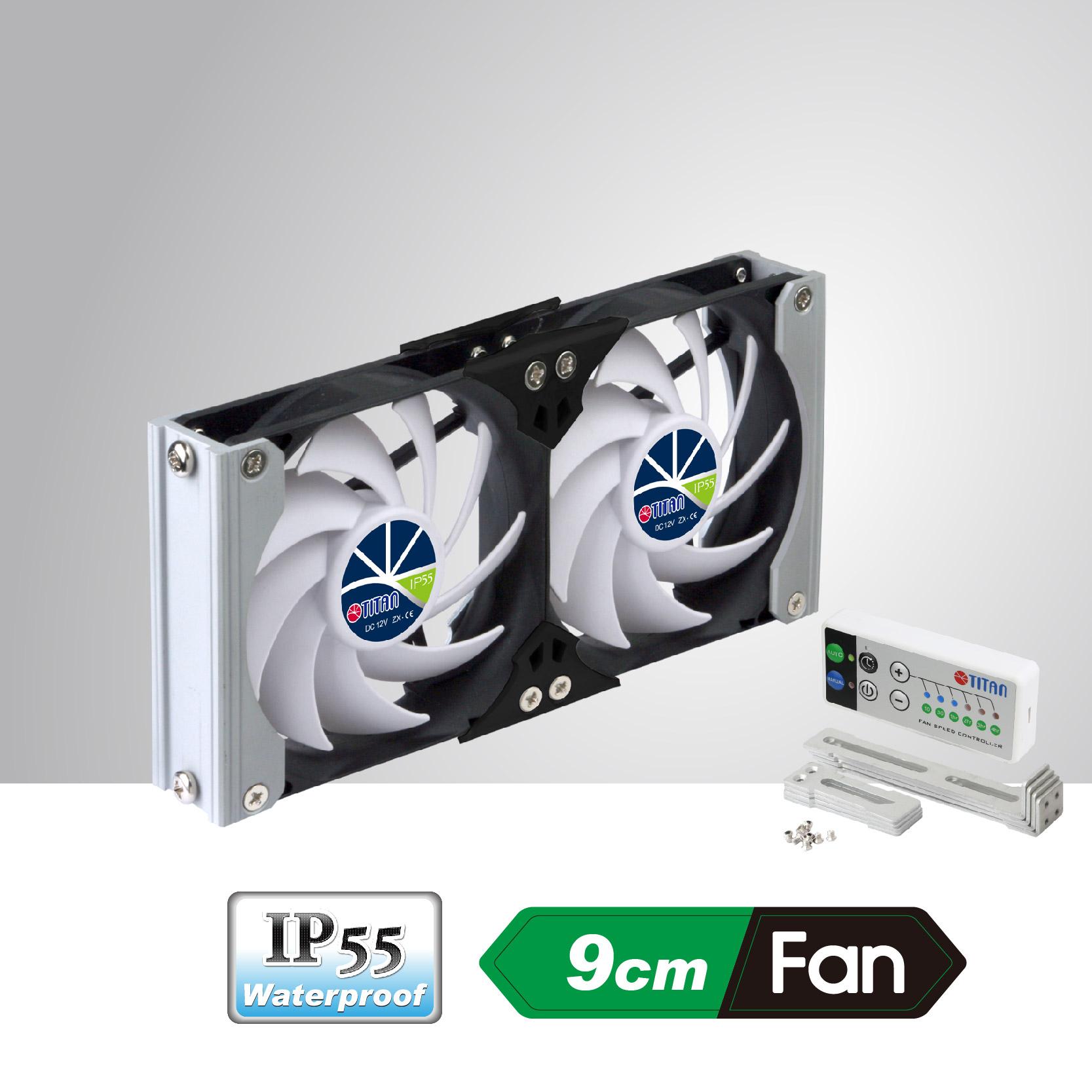 B Titan 120mm Waterproof Double Rack Mount Ventilation Cooling Fan TTC-SC20