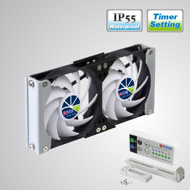 Rack Mount cooling fan can be applied to refrigerator vent fan in motorhome, camper van, caravan, travel trailer, or be Audio/Vedio cabinet fan, TTC cabinet fan, home theater cabinet fan, amplifier ventilation fan