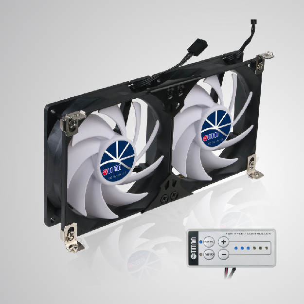 RV fridge fan for ventilation grille