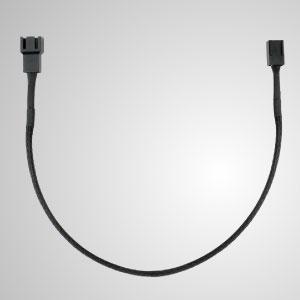 3-Pin Все черные плетеные вентиляторы Удлинитель