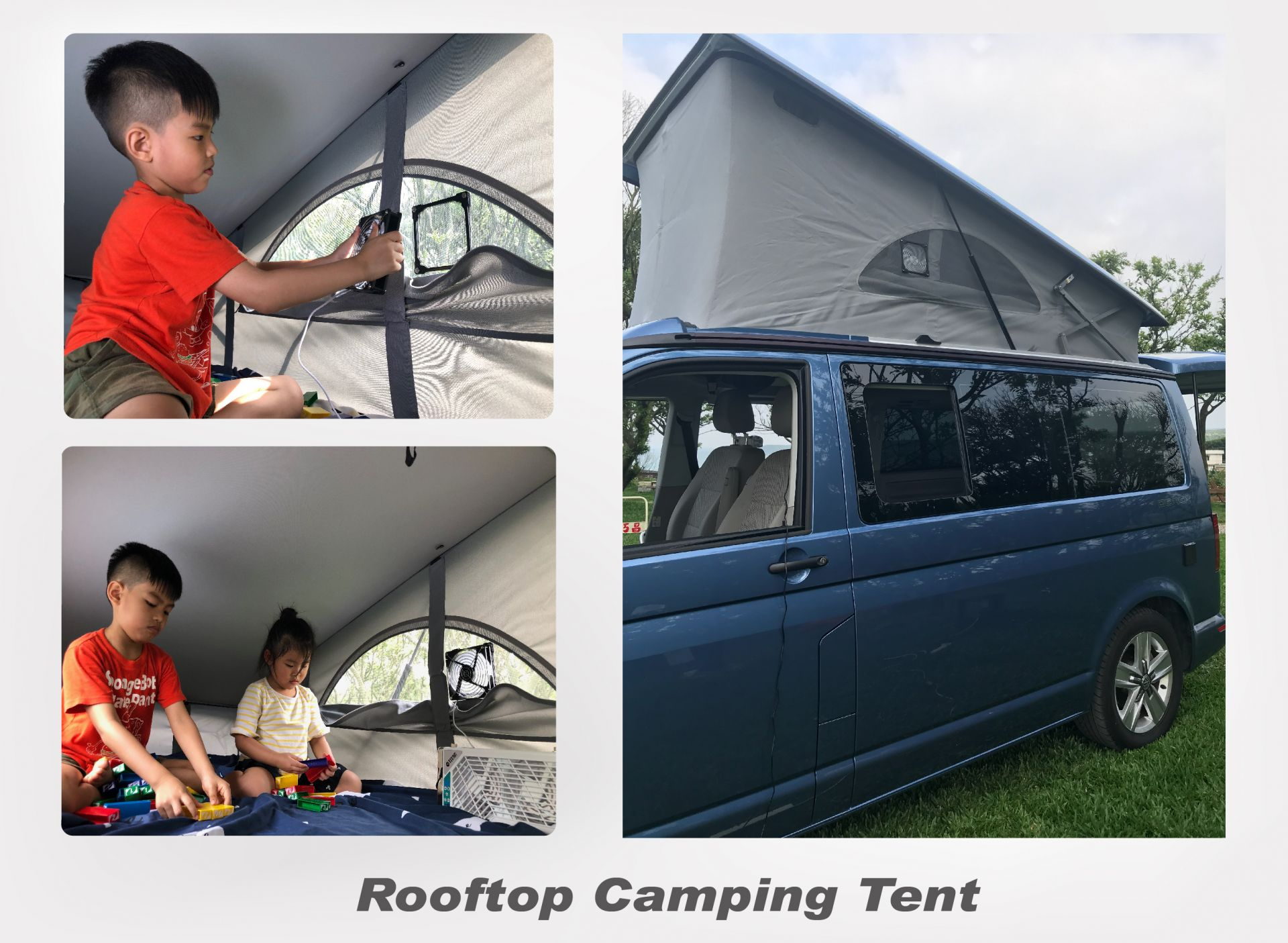 VW California rooftop camping tent