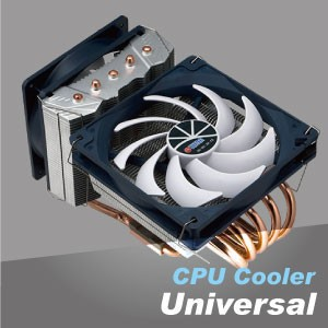 Universal CPU Cooler - CPU air cooler provide the high quality heating cooling resolution for your computer frozen.
