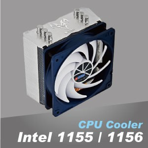 Intel LGA 1150/1151/1155/1156/1200 CPU-koeler - Aluminium koellichaam optimaliseert de warmteafvoer.