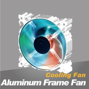 Ventilador de enfriamiento de marco de aluminio - El ventilador silencioso de enfriamiento con marco de aluminio tiene una disipación de calor más potente y una construcción robusta.