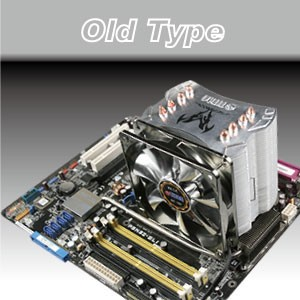 Kühlung alter Typ - Klassischer Old-Type-Lüfter und CPU-Kühler.