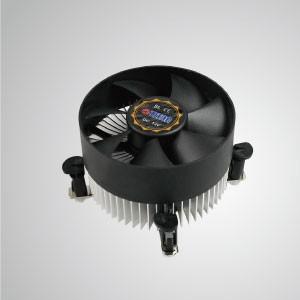 Enfriador de aire de CPU Intel LGA 1155/1156/1200 con aletas de enfriamiento de aluminio / TDP 95W / Clip de pasador de empuje - Equipado con aletas de enfriamiento de aluminio radiales y ventilador silencioso, este enfriador de CPU puede centralizar el flujo de aire y mejorar efectivamente la disipación térmica.