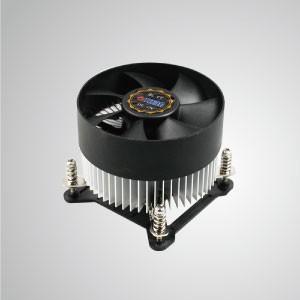 Intel LGA 1155/1156/1200 CPU-Luftkühler mit Aluminium-Kühlrippen/ TDP 95W - Ausgestattet mit radialen Aluminium-Kühlrippen und einem leisen Lüfter kann dieser CPU-Kühler den Luftstrom zentralisieren und die Wärmeableitung effektiv verbessern.