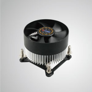 Intel LGA 1155/1156/1200 CPU Air Cooler with Aluminum Cooling Fins/ TDP 95W - Equipped with radial aluminum cooling fins and silent fan, this CPU cooler can centralize airflow and effectively enhance thermal dissipation.