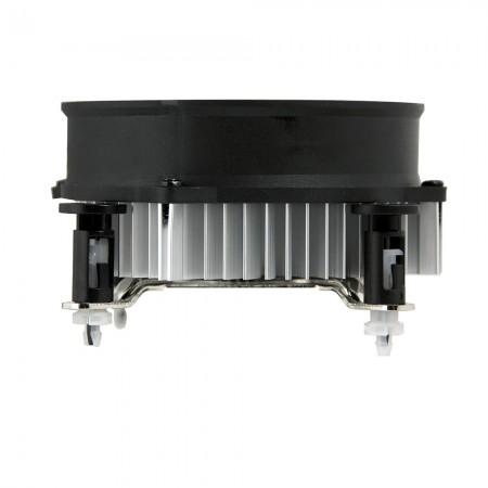 スリムタイプのケース用の48mmの低背設計CPUクーラー。 プッシュピンクリップデザイン-簡単なインストールで時間を節約