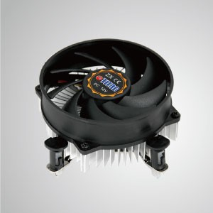 Intel LGA 1155/1156/1200- Low Profile Design CPU Air Cooler with Aluminum Cooling Fins/ TDP 75W - Equipped with radial aluminum cooling fins and silent fan, this CPU cooler can centralize airflow and effectively enhance thermal dissipation
