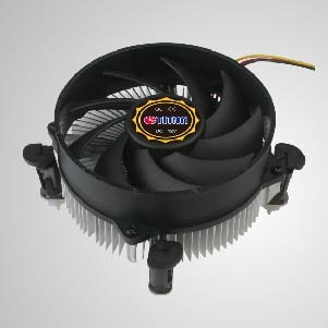 LGA 1155/1156/1200- CPU Air Cooler with 95mm Aluminum Cooling Fins / TDP 75W- 84W - Equipped with radial aluminum cooling fins, and silent fan, this CPU cooler can centralize airflow and effectively enhance thermal dissipation