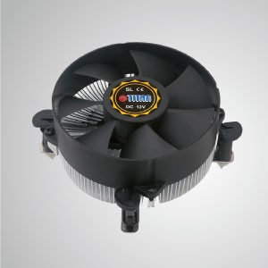 Intel LGA 1155/1156/1200- Low Profile Design CPU Air Cooler with Aluminum Cooling Fins and 95mm Cooling Fan- 156V925X Series - Equipped with radial aluminum cooling fins and silent fan, this CPU cooler can centralize airflow and effectively enhance thermal dissipation