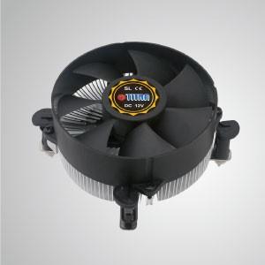 Intel LGA 1155/1156/1200 - Enfriador de aire de CPU de diseño de perfil bajo con aletas de enfriamiento de aluminio y ventilador de enfriamiento de 95 mm - Serie 156V925X - Equipado con aletas de enfriamiento de aluminio radiales y ventilador silencioso, este enfriador de CPU puede centralizar el flujo de aire y mejorar efectivamente la disipación térmica