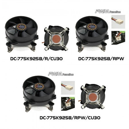 DC-775K925B Series CPU Cooler Model illustration