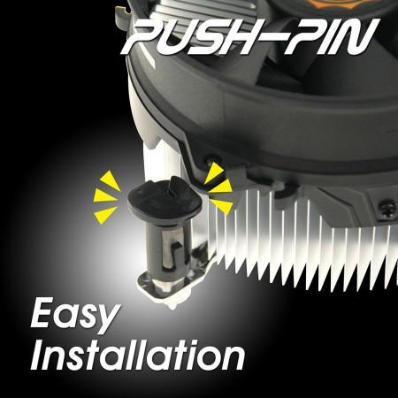 Einfache Installation, um Zeit zu sparen. Nehmen Sie das Push-Pin-Clip-Design, um paarweise Zeit zu sparen