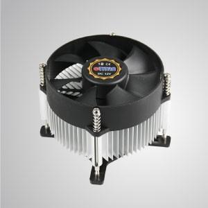 Intel LGA 775 - воздушный охладитель процессора с 95-мм вентилятором и алюминиевым ребром охлаждения / TDP 65 ~ 75 Вт - Оснащенный радиальными алюминиевыми решётками охлаждения и 95-миллиметровым гигантским бесшумным вентилятором, этот кулер для охлаждения процессора способен ускорять передачу тепла.