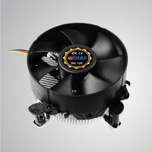 Intel LGA 775-95mmファンとアルミニウム冷却フィンを備えた薄型設計CPUエアクーラー/ TDP 65W - ラジアルアルミ冷却フィンと95mmの巨大サイレントファンを搭載したこのCPU冷却クーラーは、熱伝達を加速することができます