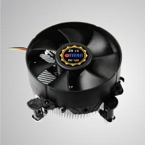 Intel LGA 775- Enfriador de aire de CPU de diseño de perfil bajo con ventilador de 95 mm y aletas de enfriamiento de aluminio / TDP 65W - Equipado con aletas de enfriamiento de aluminio radiales y un ventilador silencioso gigante de 95 mm, este enfriador de enfriamiento de CPU es capaz de acelerar la transferencia de calor