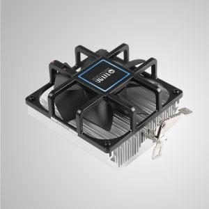 AMD-  超靜音空冷CPU鋁擠散熱器 / 9公分無框風扇/ 高密度鋁擠散熱片 /TDP 104-110W - 適用AMD平台 - 超靜音CPU散熱器 / 放射狀鋁鰭片