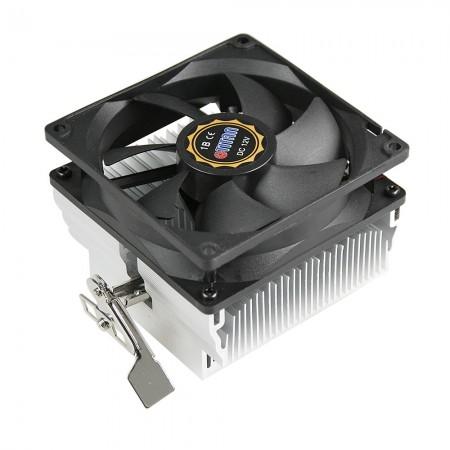 Dieser CPU-Kühler ist mit hochwertigen Aluminium-Kühlrippen und einem extrem leisen 92-mm-Lüfter mit quadratischen Rahmen ausgestattet.