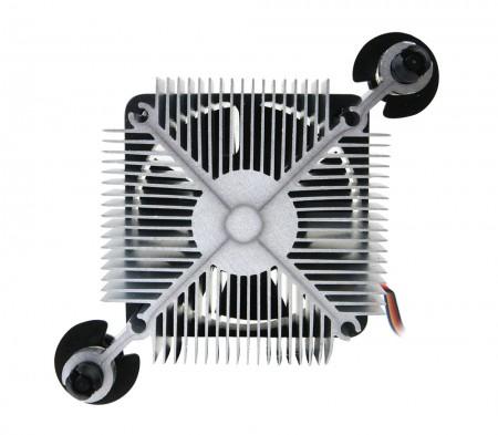 Radiale Kühlrippen zur Zentralisierung des Luftstroms und der Luftzirkulation zur Verbesserung der Wärmesenke