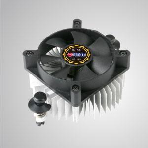AMD- 60mm 냉각 팬 및 알루미늄 냉각 핀이 있는 CPU 공기 냉각기/ TDP 35W - 방사형 알루미늄 냉각 핀과 50mm 저소음 냉각 팬이 장착된 이 CPU 냉각 쿨러는 열 전달을 가속화할 수 있습니다.