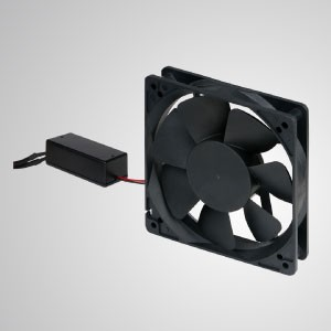 110-270 V EC-Lüfter mit leiser Kühlung und Drehzahlfunktion für 80% Energieeinsparung - Dieser EC-Lüfter ist energiesparend, regelt die Lüfterdrehzahl und kombiniert die Vorteile von Wechselstrom mit Gleichstrom.