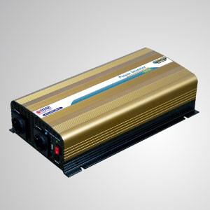 Inversor de energía de onda sinusoidal pura de 1000W 12V / 24V DC a 230V AC con control remoto y puerto USB - Inversor de energía de onda sinusoidal pura TITAN de 1000 W con puerto USB, cable de CC y control remoto