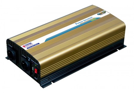 TITAN 1000W 12V/24V DC Pure Sine Wave Power inverter with USB port and Remote Control