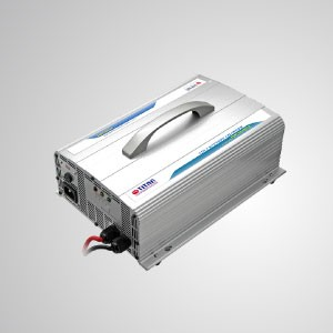 Cargador de batería 4 en 1 con salida de 12 V / 24 V / 36 V / 48 V / adecuado para vehículos, furgonetas, camiones y yates