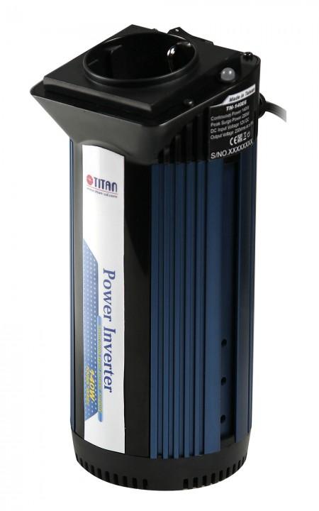 TITAN 140W 12V DC修正正弦波パワーインバーター、シガレットライターアダプター付き