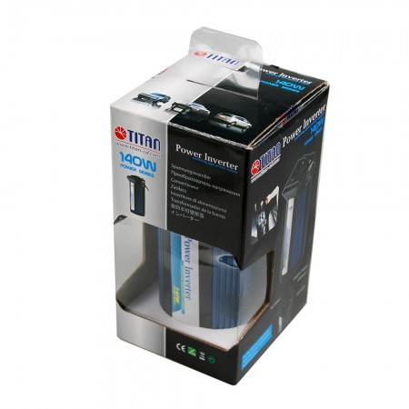 TITAN 140W Modified Sine Wave Power Inverter Package