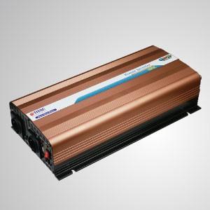 Inversor de energía de onda sinusoidal pura de 1500W 12V / 24V DC a 230V AC con control remoto y puerto USB - Inversor de energía de onda sinusoidal pura TITAN de 1500 W con puerto USB, cable de CC y control remoto