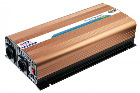 TITAN 1500W 12V/24V DC Pure Sine Wave Power inverter with USB port and Remote Control