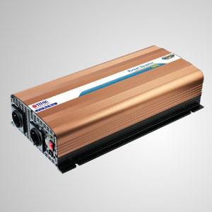 Inversor de energía de onda sinusoidal pura de 1500W 12V / 24V DC a 240V AC / Interruptor de transferencia instantánea - Inversor de energía de onda sinusoidal pura TITAN de 1500 W con cable de CC, control remoto e interruptor de transferencia instantánea. Características en el interruptor de transferencia de CA instantánea, puede convertir CC a CA en 10 minutos