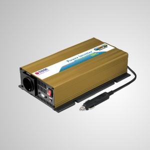 Inversor de corriente de onda sinusoidal pura de 150 W 12 V / 24 V CC a 230 V CA con enchufe para encendedor de cigarrillos y adaptador de puerto USB para automóvil