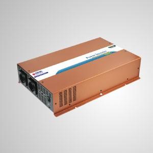 Inversor de energía de onda sinusoidal pura de 2000W 12V / 24V DC a 240V AC / Interruptor de transferencia instantánea - Inversor de energía de onda sinusoidal pura TITAN de 2000 W con cable de CC, control remoto e interruptor de transferencia instantánea. Características en el interruptor de transferencia de CA instantánea, puede convertir CC a CA en 10 minutos