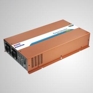Inversor de energía de onda sinusoidal pura de 2500W 12V / 24V DC a 240V AC / Interruptor de transferencia instantánea - Inversor de energía de onda sinusoidal pura TITAN 2500W con cable de CC, control remoto e interruptor de transferencia instantánea. Características en el interruptor de transferencia de CA instantánea, puede convertir CC a CA en 10 minutos