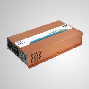 Inversor de energía de onda sinusoidal pura de 2000 W de 12 V CC a 240 V CA con modo de suspensión e interruptor de transferencia instantánea y funcionamiento silencioso - Inversor de energía de onda sinusoidal pura TITAN 3000W con modo de suspensión, cable de CC y control remoto