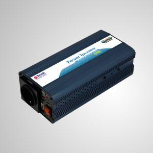 Inversor de corriente de onda sinusoidal modificada de 300 vatios de 12 V CC a 230 V CA con adaptador de coche con puerto USB