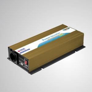 Inversor de corriente de onda sinusoidal pura de 600W 12V / 24V DC a 230V AC con puerto USB Adaptador para automóvil