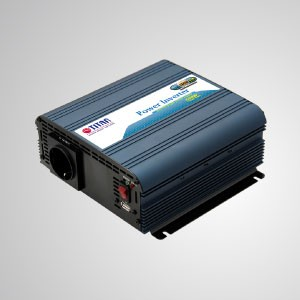 600W Modified Sine Wave Power Inverter 12V/24V DC to 230V AC with USB Port Car Adapter - TITAN 600W Modified Sine Wave Power Inverter with USB port