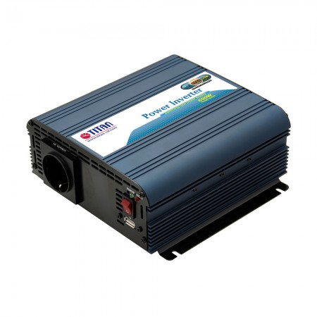 TITAN 600W 12V / 24V DC Modified Wave Power Inverte mit USB-Autoadapter