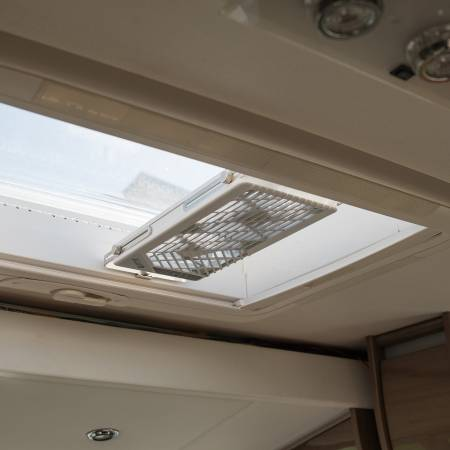The advantage of TITAN RV rooftop window fan is ease of mount& demount.
