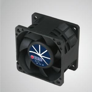12VDC高静圧冷却ファン/ 60mm - TITAN高静圧ファンには3つの特徴があります:高静圧、高 風量、長いレッチの長さ。