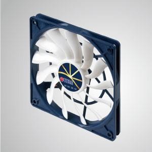 極度のサイレント低速制御を備えた12VDC0.2A冷却ファン/ 120mm x 120mm x 15mm - 「3つの極端な」機能:極端な静音、極端な低速、および極端な低消費電力。