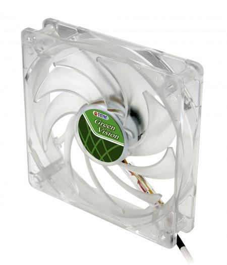 Mit transparentem, grünem Rahmen und 120 mm leisem Lüfter für eine umweltfreundliche und flache Kühlleistung